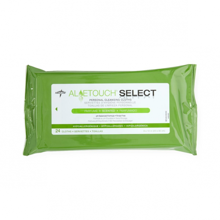 Aloetouch SELECT Premium Spunlace Personal Cleansing Wipes 1